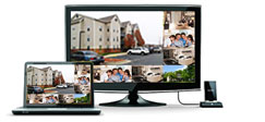 view your home or office through the monitor