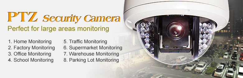 PTZ Security Camera Perfect for Large Areas Monitoring