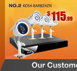 4CH H.264 DVR with 500GB HDD & 4 CMOS 480TVL 65ft IR Outdoor Security Cameras